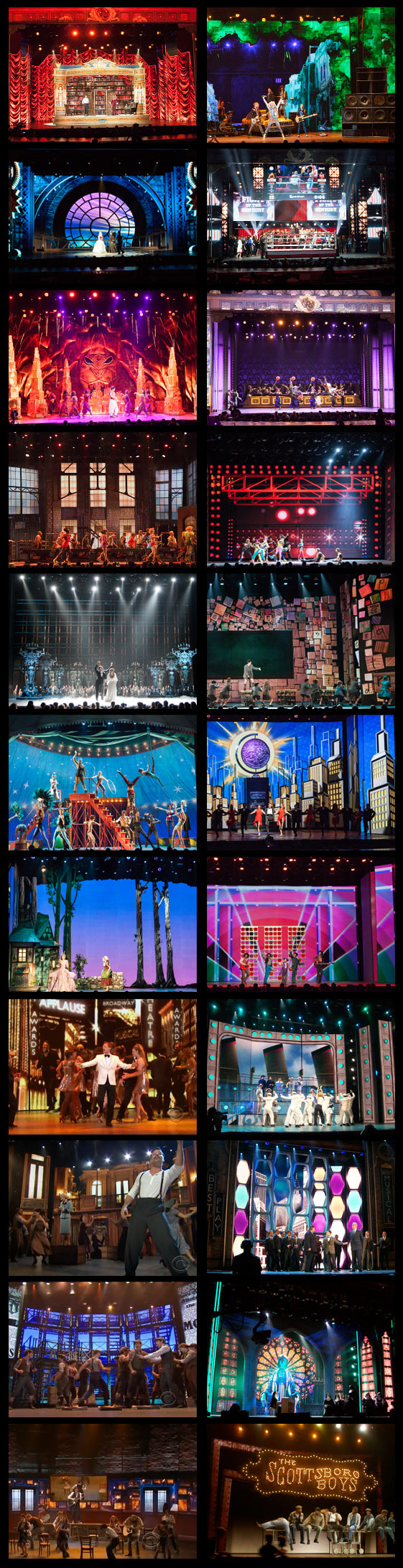 Digital sets for the Tony Awards, 2011-2014 (so far!)