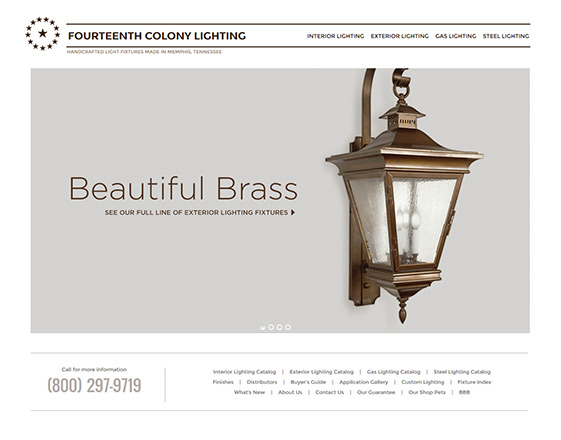 Fourteenth Century Lighting : Responsive Home Page redesign