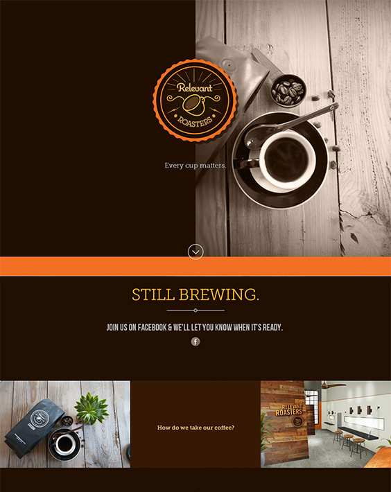 Relevant Roasters website design & build