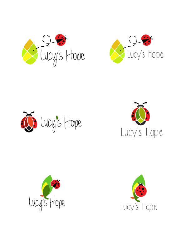 Logo designs for Lucy's Hope charity