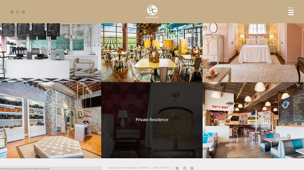 GCD Interiors : WORK page