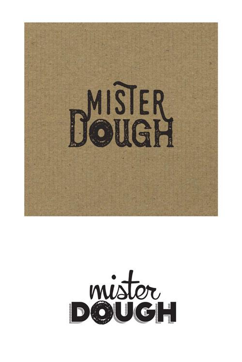 Naming design process for Mister Dough, donut shop